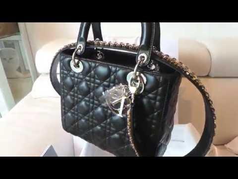 6dcacce09319 Unboxing Lady Dior Handbag with Crystal Swarovski