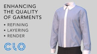 Enhancing the Quality of Garments for Rendering
