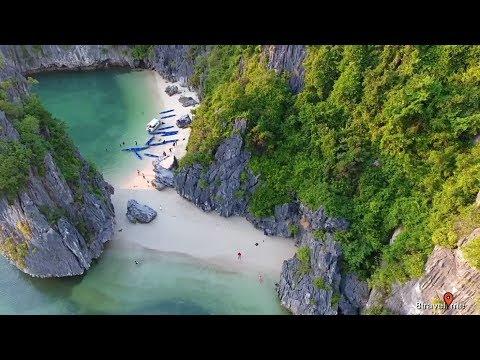 Amazing Halong Bay - Vietnam from flycam - drone