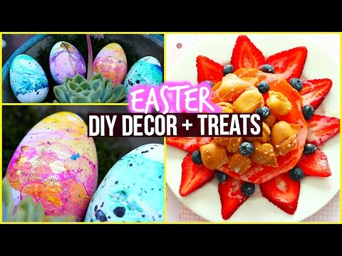 DIY Easter Marbled Egg & Healthy Snack Ideas