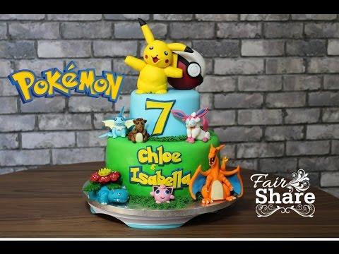 Pokemon Cake Tutorial Full