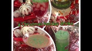 4 Alcoholic and Non-Alcoholic mix drinks for the Christmas holidays. Comment down below which one was your favourite drink!    Contact me: Instagram: thepinproject Twitter: Alor_PinProject Pinterest: ThePinProject www.pinterest.com/thepinproject   LINKS I USED:   Grinch Punch: http://www.pinterest.com/pin/337136722080175498/  Candy Cane Cocktail: http://www.pinterest.com/pin/337136722080175491/  Bailey