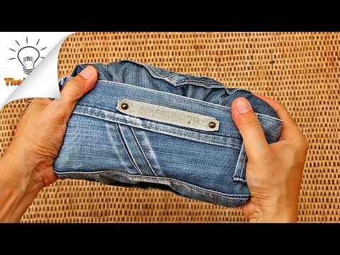 How to Fold Jeans for Travel