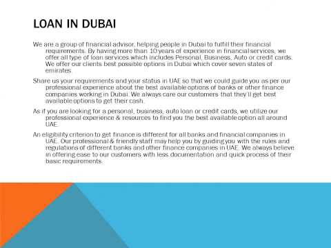 Loan in Dubai