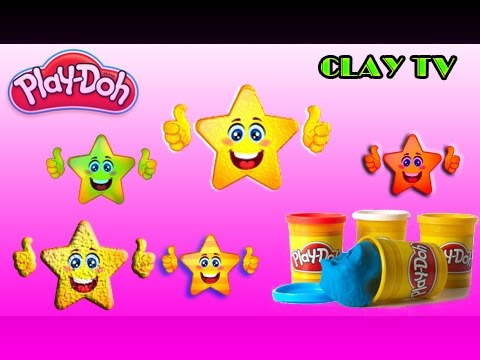 Fun Creative with Play Dough Stars Smiley Face Fun and  Molds for Kids