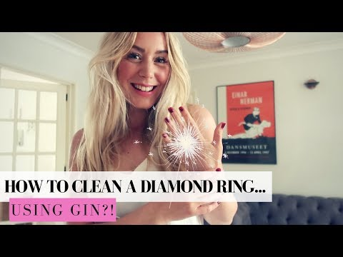 HOW TO CLEAN A DIAMOND RING AT HOME..WITH GIN   SJ STRUM