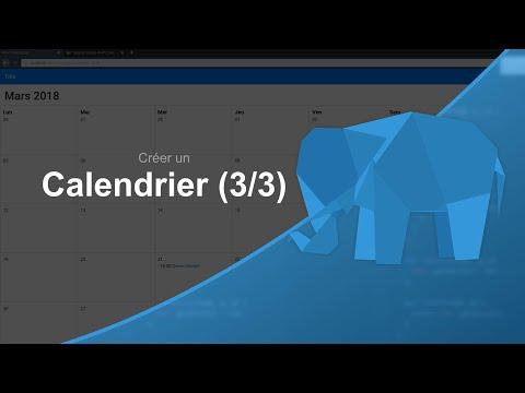 Tutoriel PHP : Créer un Calendrier 3/3, Gestion des évènements