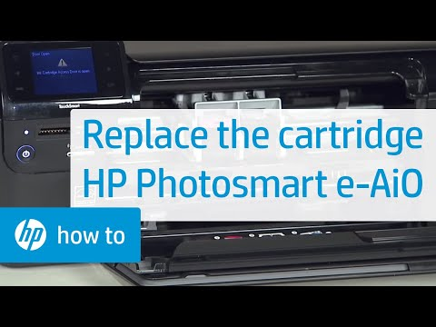 Replacing a Cartridge - HP Photosmart e-All-in-One Printer (D110a)