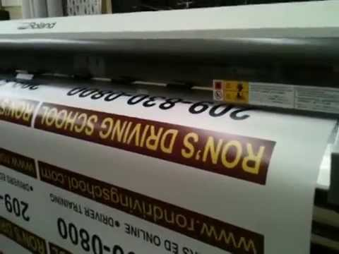 Magnetic sign printing