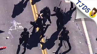 San Jose Cop Brutally Attacks Protestor & Rest Of Cops Join In