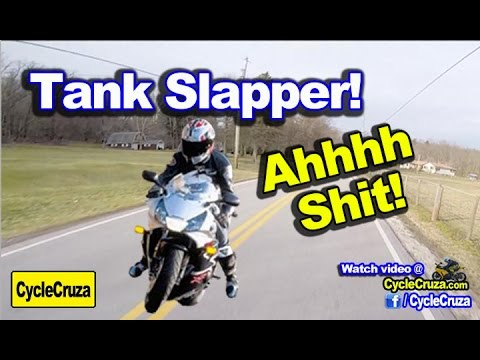 Motorcycle Tank Slapper - How To Get Out of Tank Slapper | MotoVlog