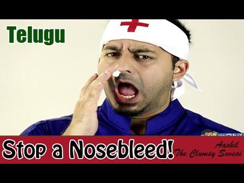 How to Treat a Bleeding Nose - Telugu