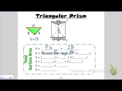Total Surface Area of a Triangular Prism