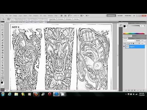 Making A Tattoo Stencil Using Photoshop *THE RIGHT WAY*