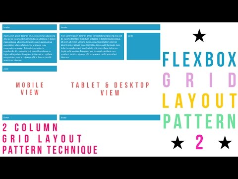 Flexbox Grid Layout Pattern - 2