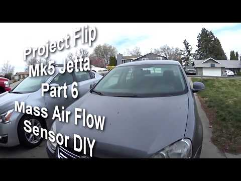 MK5 Jetta mass air flow sensor replacement diy quick and easy