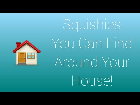 Squishies you could find around your house!