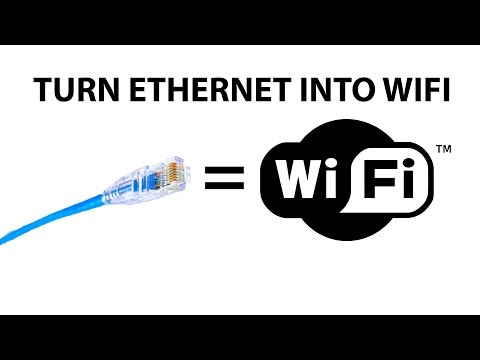 Share your ethernet connection over WiFi