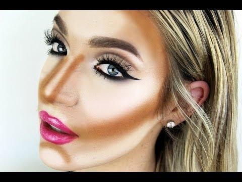 How to: Contour + Highlight! (Using Creams / Liquids - Good for Dry Skin!) | Stephanie Lange