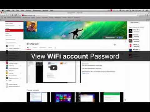 View WiFi Network Password in Mac OS X
