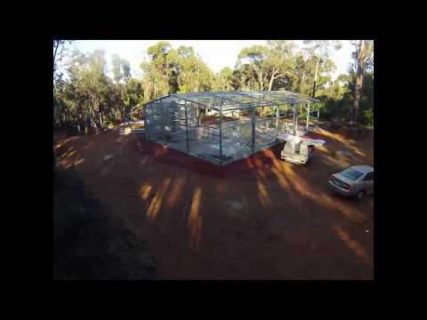 Roys Sheds Builds 20m x 12m x 4m Shed in Mundaring, WA 6073