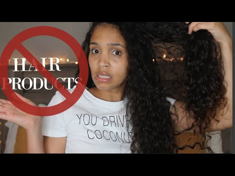 PRODUCT FREE WASH AND GO!! No Product Curly Hair Challenge!