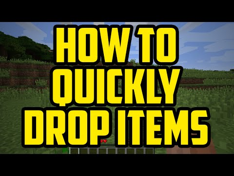 Minecraft HOW TO QUICKLY DROP ITEMS 2017 - How To Drop Items Fast When Clicked In Minecraft