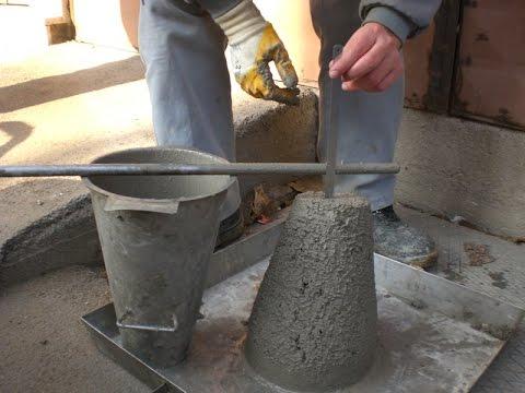 Concrete Quality Control Test at Site  -  Slump Test