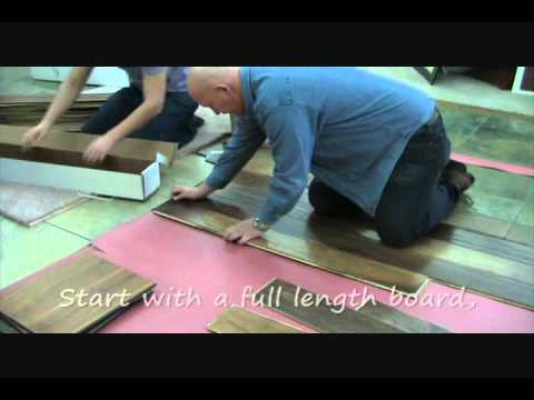 How to install floating hardwood flooring - presented by Arkansas Carpet Outlet