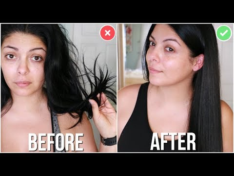 HOW TO FIX DRY DAMAGED HAIR IN 1 DAY EASY WINTER HAIR TUTORIAL | SCCASTANEDA