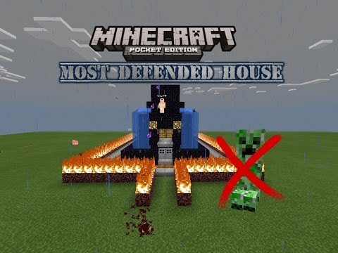THE MOST DEFENDED BASE   MINECRAFT PE