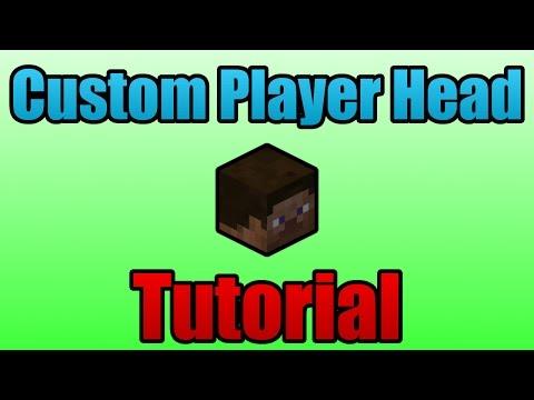 How to create Custom Player Heads - Minecraft Tutorial (1.8.4)