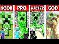 Minecraft NOOB Vs PRO Vs HACKER Vs GOD CREEPER MUTANT In Minecraft AVM SHORTS Animation