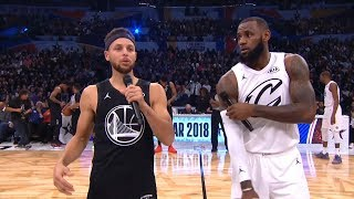 LeBron James & Stephen Curry Speech Before The Game / 2018 NBA All-Star Game