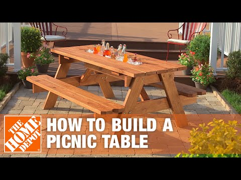 How to Build a Picnic Table with Built-in Cooler - The Home Depot