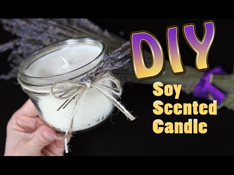 DIY Soy Candle With Scented Wax