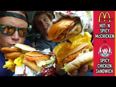 McDonald's Hot 'N Spicy McChicken vs. Wendy's Spicy Chicken Sandwich