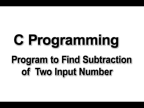 Program to find subtraction of two input numbers