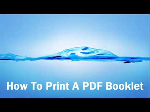 How To Print A PDF Booklet (Full English)