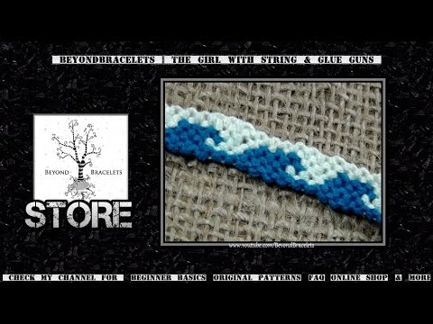 ► Friendship Bracelet Tutorial 40 - Beginner - Tidal Waves