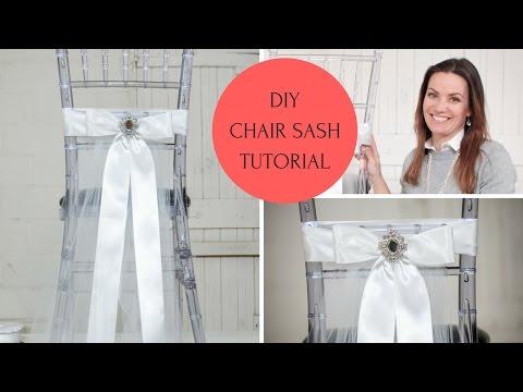 Chair Sash Ideas | Chair Sash DIY | Chair Sash Tutorial