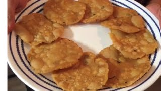 Pappu Chekkalu / Rice Crackers / Andhra Snack in telugu - By Sritha's Kitchen