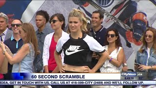 Bouchard crushes competition in 60 Second Scramble