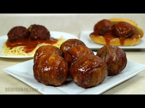Meatball Recipe - Easy Cheesy Bacon Wrapped BBQ Meatballs With Cheese -  BBQFOOD4U