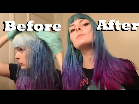 Dyeing my Hair Dark Green, Blue, Purple, and Pink for Fall! Special Effects, Manic Panic, and Ion