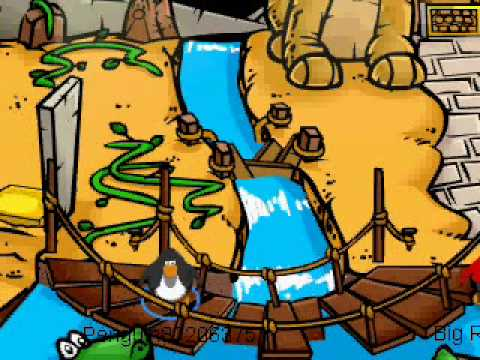 my penguin trys to get the golden puffle
