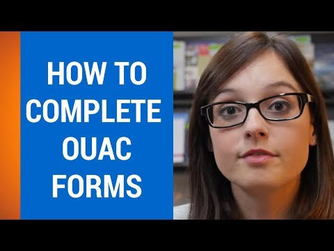 How to Submit OUAC  (Ontario Universities Application Center)  Form
