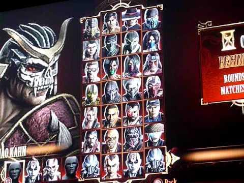 MK9 mod Boss select screen ps3