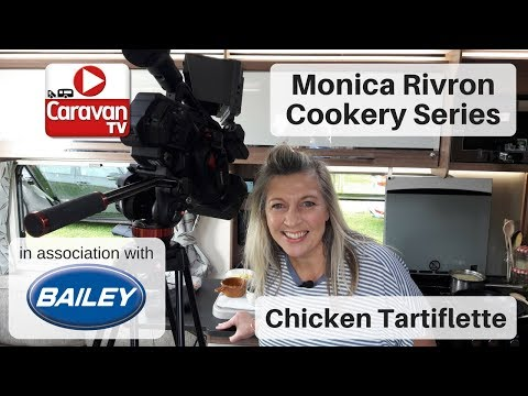 Cooking in a Caravan: Chicken Tartiflette by Monica Rivron with Bailey of Bristol