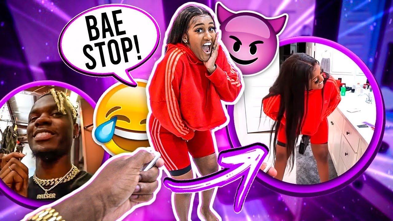 VIBRATING PANTIES PRANK ON GIRLFRIEND!!!😂 (cute reaction)